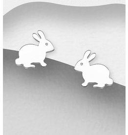 Sterling Studs-Sterling Bunny Rabbits