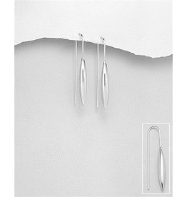 Sterling Sterling Silver Narrow Oblong Drops