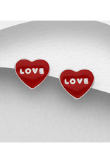 Sterling Studs-Love Hearts