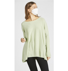 Gillian- Over-Sized Sweater Top in Sage
