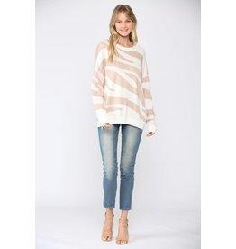 Fate Elle Zebra Print Sweater