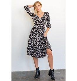 Gilli Florence V-Neck Mid Dress