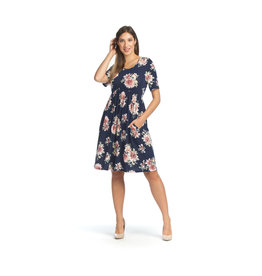 Papillon Kelly- Floral Pleated Dress