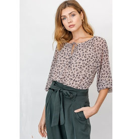 Gilli Phoebe Animal Print Blouse