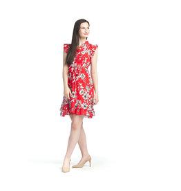 Papillon Vanessa- Floral Trim Dress