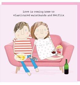 Rosie Made a Thing Elasticated Waistbands & Netflix Valentine Card