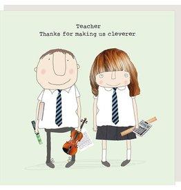 Rosie Made a Thing Thank You Teacher Blank Card