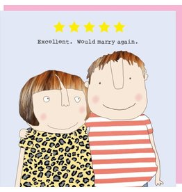 Rosie Made a Thing Card- Five Star Love