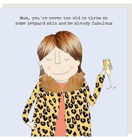 Rosie Made a Thing Card-Mum Leopard Skin