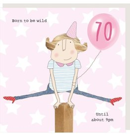 Rosie Made a Thing Card-Girl 70 Wild