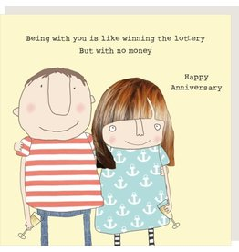 Rosie Made a Thing Card-Lottery Happy Anniversary