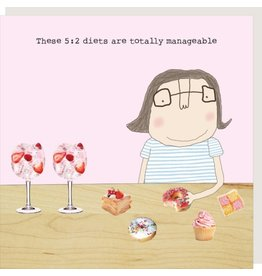 Rosie Made a Thing Card- Manageable Diet