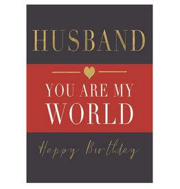 Hammond & Gower Husband Birthday Card