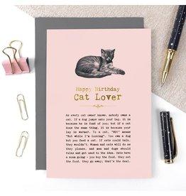 Coulson Macleod Ltd. Happy Birthday Cat Lover Card