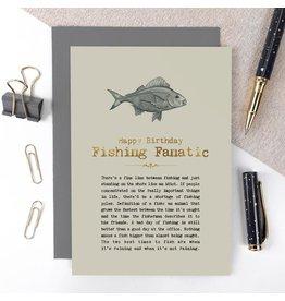 Coulson Macleod Ltd. Happy Birthday Fishing Fanatic Birthday Card