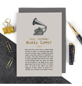 Coulson Macleod Ltd. Happy Birthday Music Lover Card