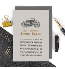 Coulson Macleod Ltd. Happy Birthday Speed Demon Card