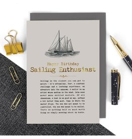 Coulson Macleod Ltd. Happy Birthday Sailing Enthusiast Card