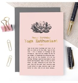 Coulson Macleod Ltd. Happy Birthday Yoga Enthusiast Card