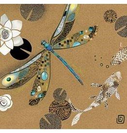 Dragonfly & Koi Blank Card