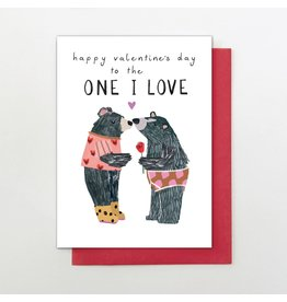 Stop The Clock Design To The One I Love Valentine Card