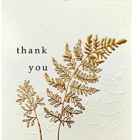 Caroline Gardner Gold Fern Thank You Card