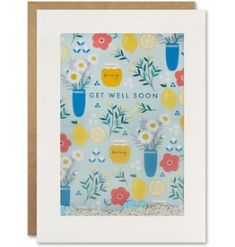 James Ellis Get Well Shakies Floral Card