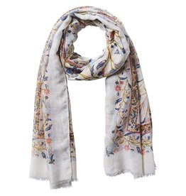 Tickled Pink Taupe Tuscan Scarf