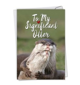 Noble Works Significant Otter Anniversary Card