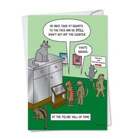 Noble Works Card-At The Feline Hall of Fame