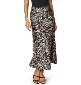 Liverpool Bias Cut Skirt- Leopard