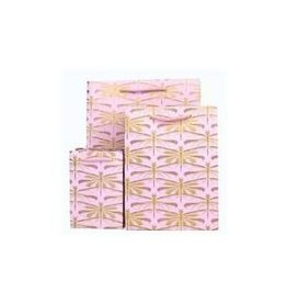 Love Vivid Cotton Gift Bag-Dragonfly Pink-Small