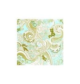 Love Vivid Cotton Roll Wrap-Nehru Paisley-Turq.