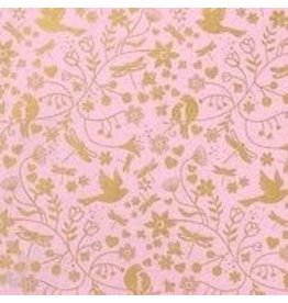Love Vivid Cotton Roll Wrap-Love Bird Flower Pink