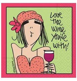 Design Design Napkin-Love The Wine