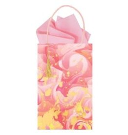 The Gift Wrap Company Giftbag/Marble Mad Fuchsia- Mini