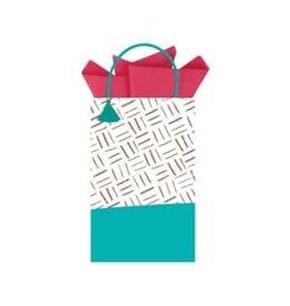 The Gift Wrap Company Giftbag/Aqua Minikin Tote
