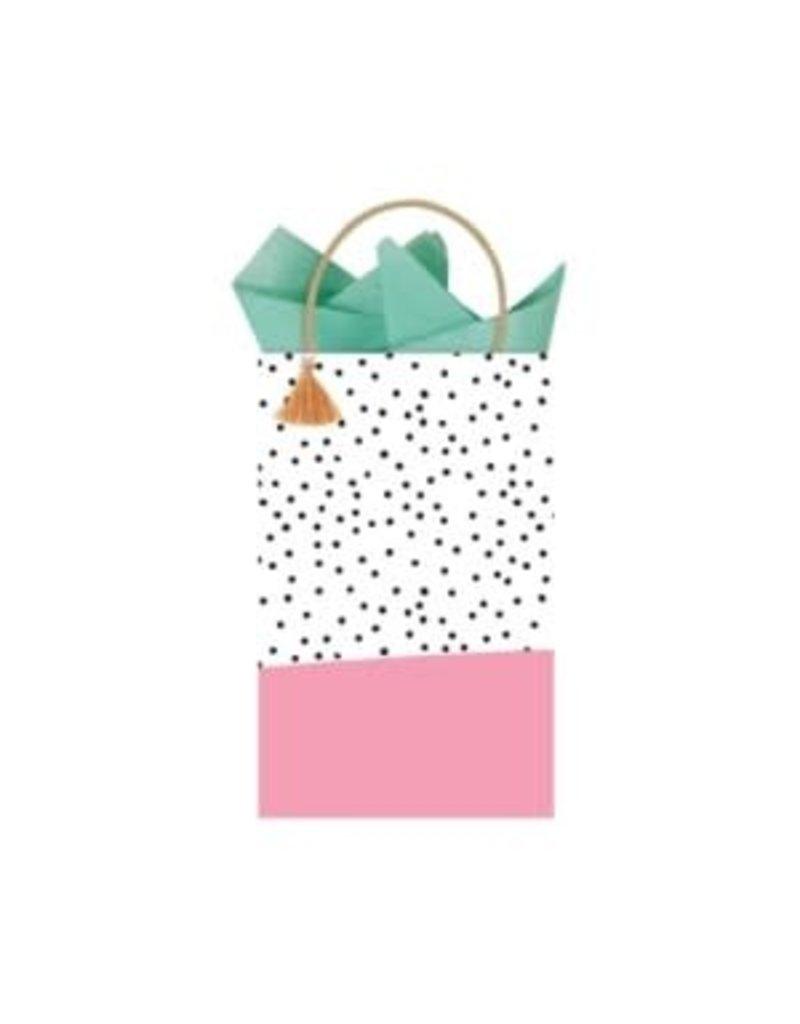 The Gift Wrap Company Giftbag/Pink Minikin