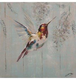 Nostalgia Import Canvas-Hummingbird Red (small)
