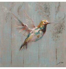 Nostalgia Import Canvas Hummingbird-Yellow - Small