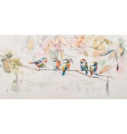 Nostalgia Import Canvas-Five Birds
