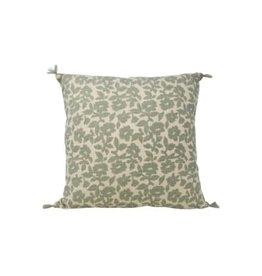 Nostalgia Import Cushion-Green Floral Square