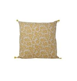 Nostalgia Import Cushion - Yellow Floral Square