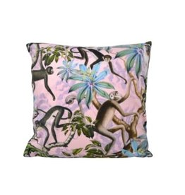 Nostalgia Import Cushion - Monkey in Floral Branches