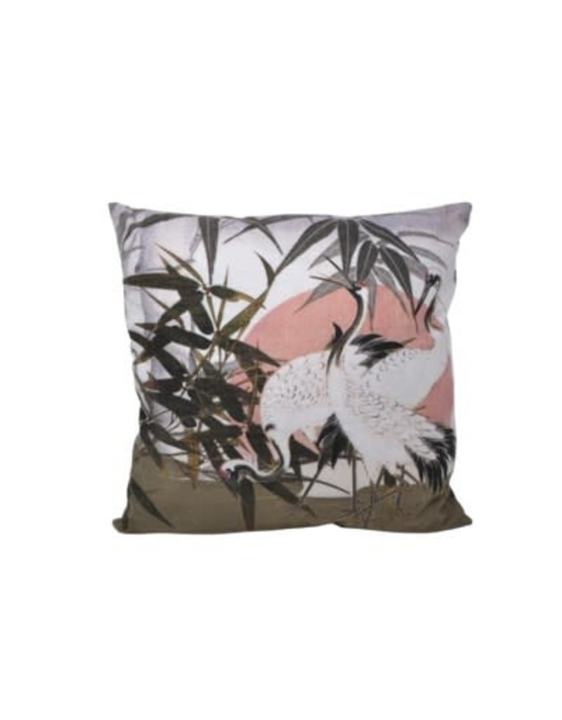 Nostalgia Import Cushion - Cranes