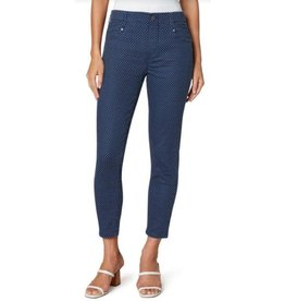 Liverpool Gia Glider Crop Skinny - Mood Indigo Mini Dot