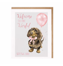 WRENDALE Card-Welcome Little One (Dog) Girl