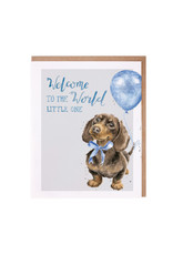 WRENDALE Card-Welcome Little One (Dog) Boy