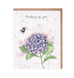 WRENDALE Card- Thinking Of You - Hydrangea