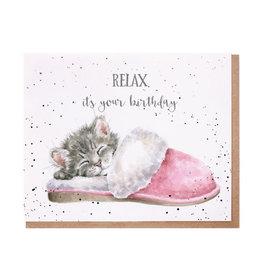 WRENDALE Card-Sleepy Kitten